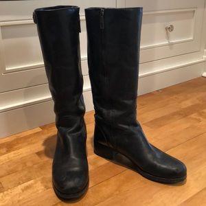 Prada Black moto boot with lug sole. Size 41
